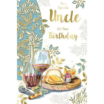 To a Special Uncle On Your Birthday Celebrity Style Greeting Card
