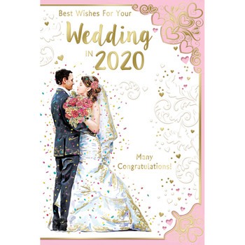 Best Wishes For Your Wedding In 2020 Many Congratulations Celebrity Style Greeting Card