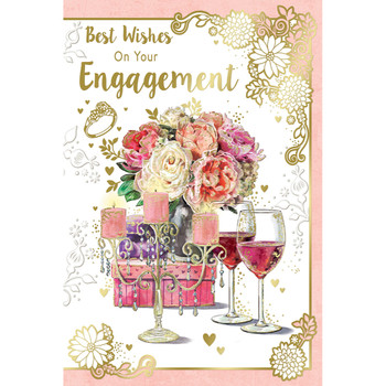 Best Wishes On Your Engagement Celebrity Style Greeting Card