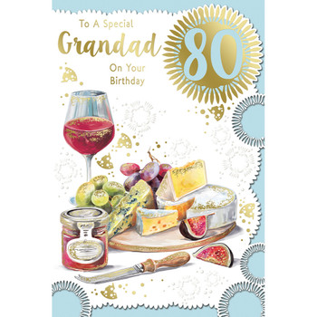 To A Special Grandad On Your 80th Birthday Celebrity Style Greeting Card