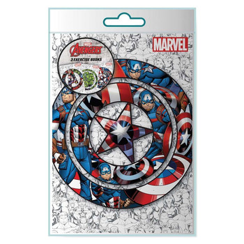 Pack of 3 Avengers Icon Exercise Books