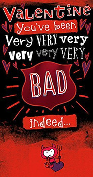 Naughty Bed! Valentine's Day Card
