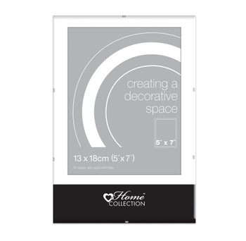 """5x7"""" Glass Clip Frame (13x18cm) by Home Collection"""