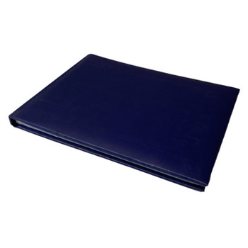 12 x Plain Cover Navy Blue Autograph Books by Janrax - Signature End of Term School Leavers