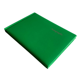 12 x Green Autograph Books by Janrax - Signature End of Term School Leavers