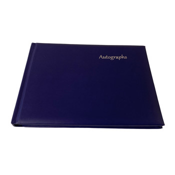 12 x Navy Blue Autograph Books by Janrax - Signature End of Term School Leavers