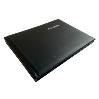 12 x Black Autograph Books by Janrax - Signature End of Term School Leavers