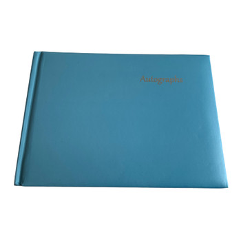 12 x Blue Autograph Books by Janrax - Signature End of Term School Leavers