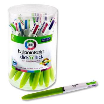 4-in1 Ballpoint Pen by Pro:scribe