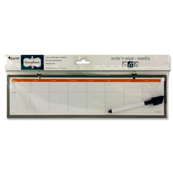 Write And Wipe Weekly Dry Erase Board With Marker by Quartet Homeplanner