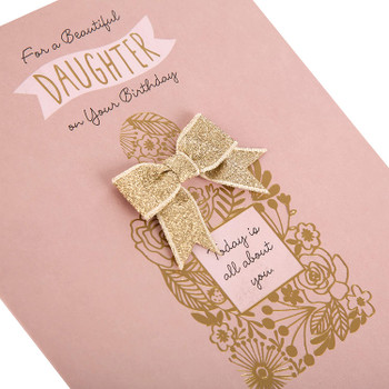 For a Beautiful Daughter 3D Glitter Design Birthday Card