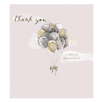 A Note of Appreciation Foil Finished Thank You Card
