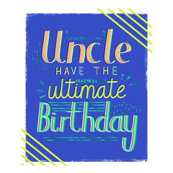 Birthday Card for Uncle Contemporary Text Design