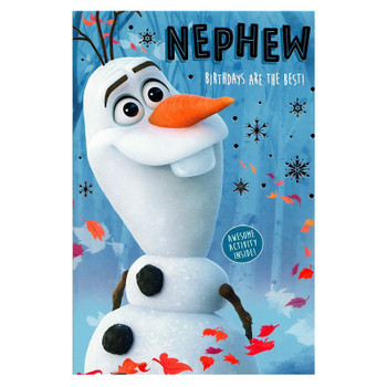 Frozen 2 Nephew Birthday Card with Awesome Activity Inside