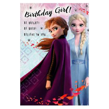 'BE Bright, BE Bold!' Frozen 2 Girl Birthday Card
