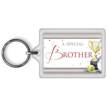 A Special Brother Celebrity Style World's Best Keyring