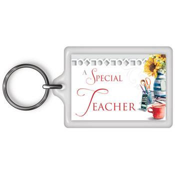 A Special Teacher Celebrity Style World's Best Keyring