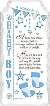 A Wonderful Baby Boy Sentimental Handcrafted Ceramic Plaque