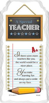 A Special Teacher Sentimental Handcrafted Ceramic Plaque
