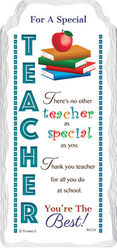 Thank You For a Special And Best Teacher Sentimental Handcrafted Ceramic Plaque