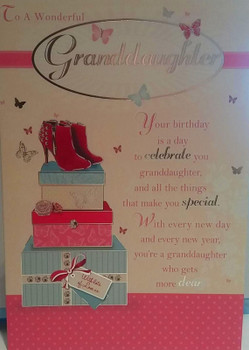 Birthday Card To A Wonderful Granddaughter
