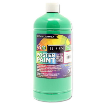1 Litre Emerald Green Poster Paint by Icon Art