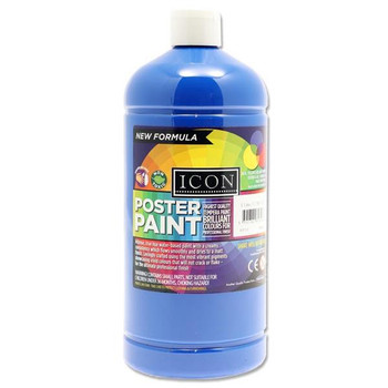 1 Litre Ultramarine Blue Poster Paint by Icon Art