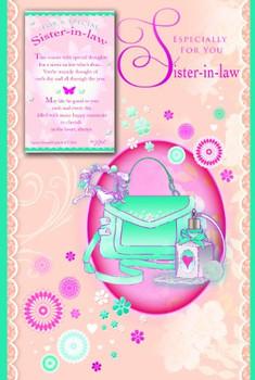 F0R A SPECIAL SISTER - IN - LAW, KEEPSAKE TREASURES - SISTER BIRTHDAY GREETINGS CARD