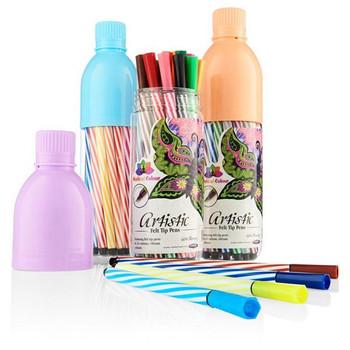 Bottle of 24 Artistic Felt Tip Pens by World of Colour