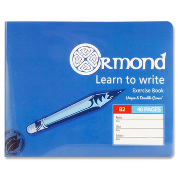 40 Pages B2 Durable Cover Learn To Write Copy Exercise Book by Ormond