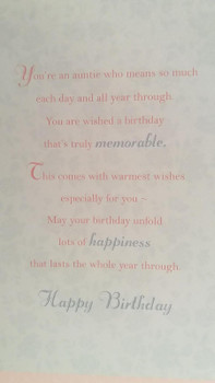 Auntie Birthday Greeting Card