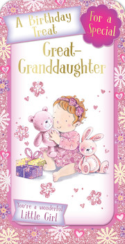 A Birthday Treat For a Special Great Granddaughter Luxury Gift Money Wallet Card