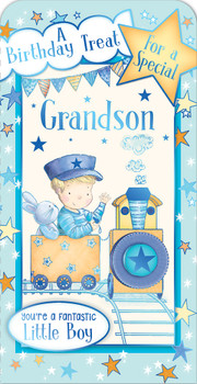 A Birthday Treat For a Special Grandson Luxury Gift Money Wallet Card