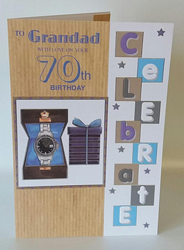To Grandad With Love On Your 70th Birthday card