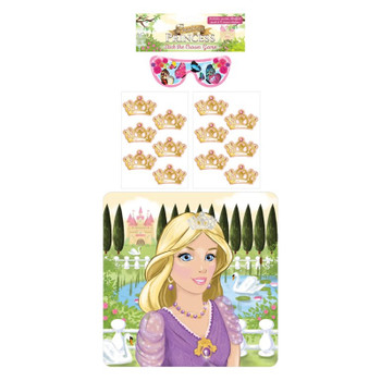 14 Pieces Stick The Crown On The Princess Party Game