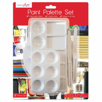 5 Piece Paint Palette Set