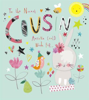 Cousin Birthday Card Hallmark Cat And Bird