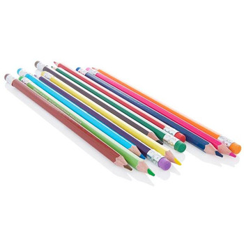 Box of 12 Erasable Colouring Pencils by World of Colour