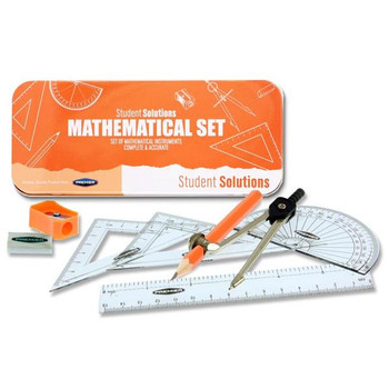 9 Piece Pumpkin Orange Maths Set by Student Solutions