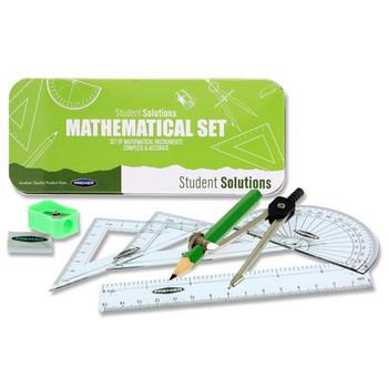 9 Pieces Caterpillar Green Maths Set by Student Solutions