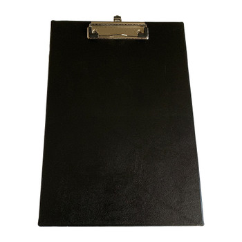 Pack of 12 Janrax A4 Black PVC Single Clipboards