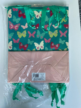 6 x Amera Butterfly Large Gift Bag for Presents Any Occasions