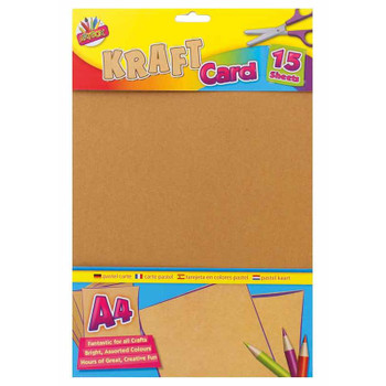 Pack of 15 A4 Kraft Card Sheets