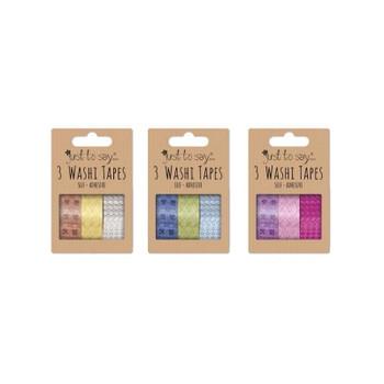 Pack of 3 Self Adhesive Washi Tapes