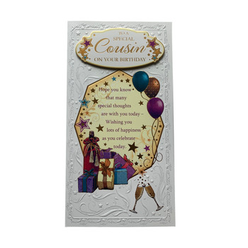 To A Special Cousin On Your Birthday Soft Whispers Card