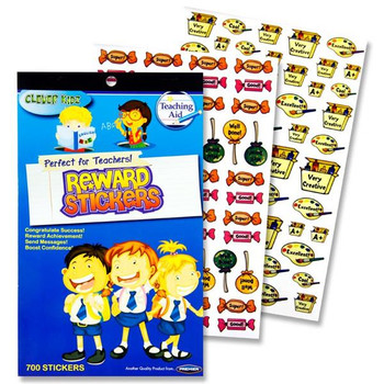 Book of 700+ Teachers Reward Stickers by Clever Kidz
