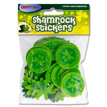 Pack of 50 Wee Bit Irish Foam & Felt Stickers by Crafty Bitz