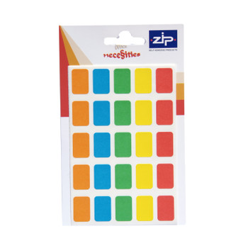 Pack of 120 12 x 18mm Assorted Colours Labels