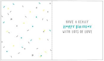 To My Amazing Cousin Silver Text Design Birthday Card