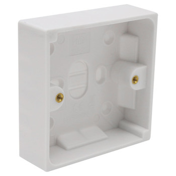 1 Gang White Pattress Box by Pifco